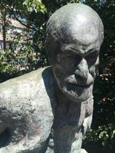 Freud sculpture before conservation