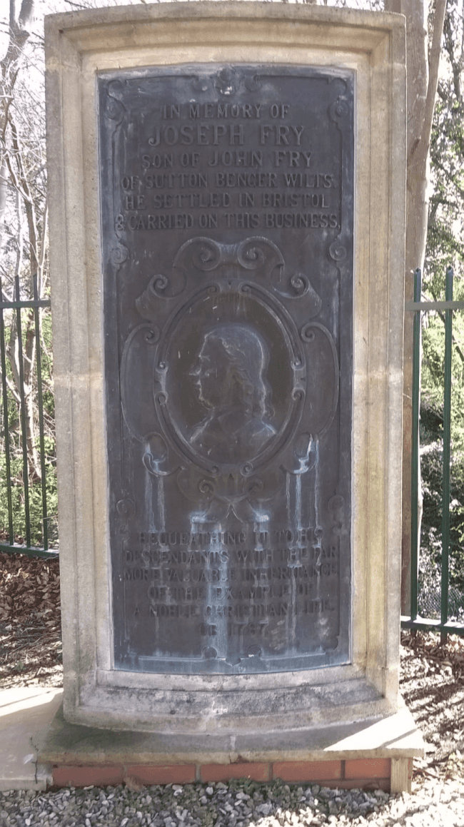 Joseph Fry Memorial before Restoration