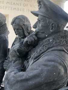 Paint residues spread across the bronze at Bomber Command