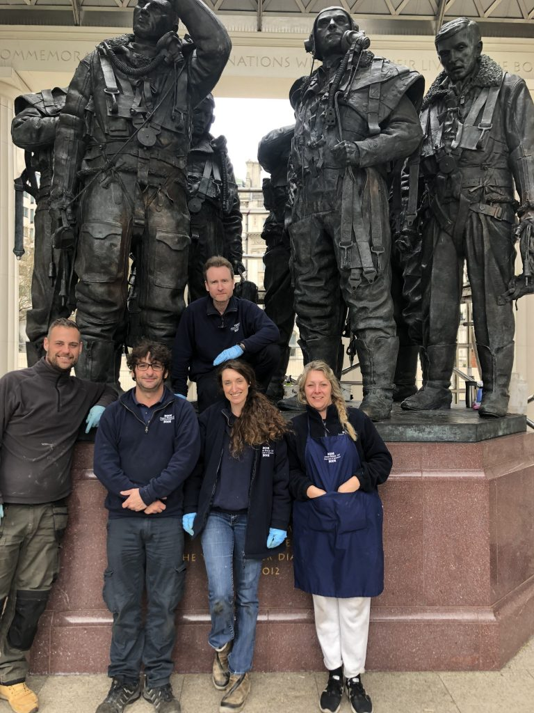 Bomber Command Monument Cleaning