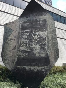 Aldersgate Flame Disfigured by Corrosion